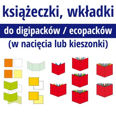 do digipacków, ecopacków